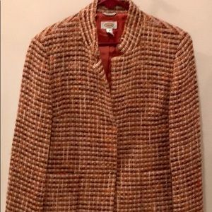 Talbots 100% wool lined tweed blazer